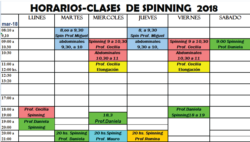 Club belgrano for Clases de spinning